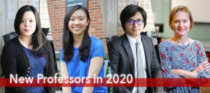 New Professors Share Their Experiences in 2020